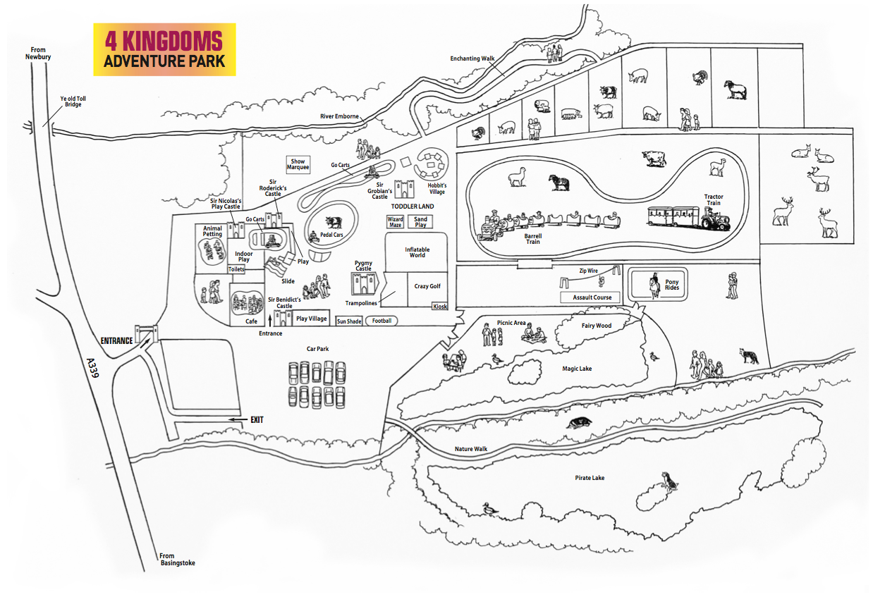 Map of 4 Kingdoms Farm Park
