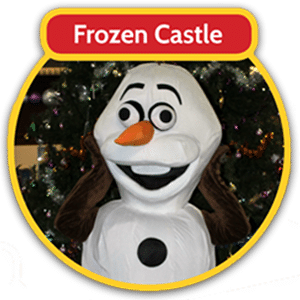Frozen castle with Olaf