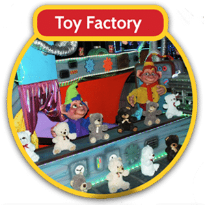 Watch the elves in the toy factory