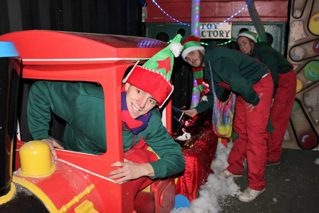 Elves-on-a-train