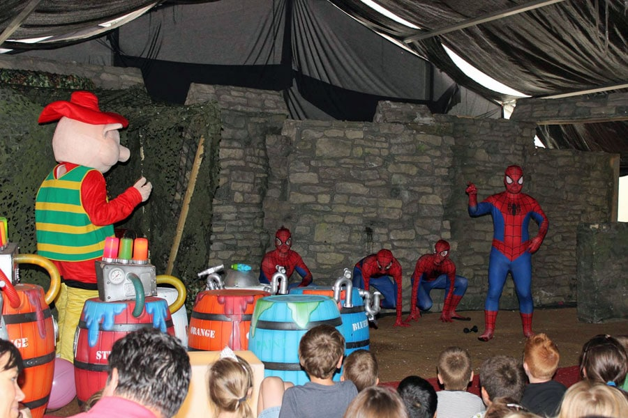 Spidermans got talent show