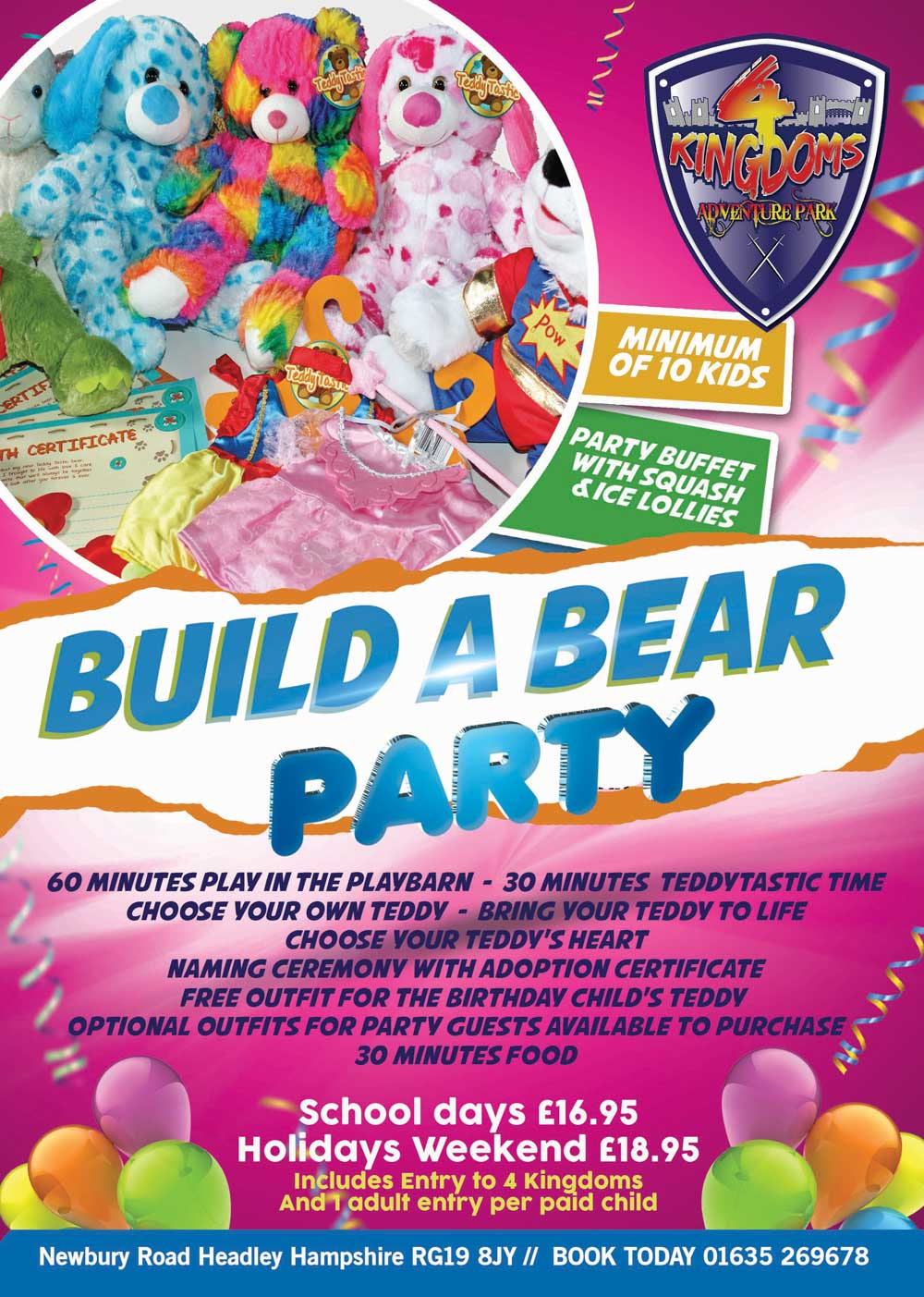 Build A Bear Party At 4 Kingdoms Newbury