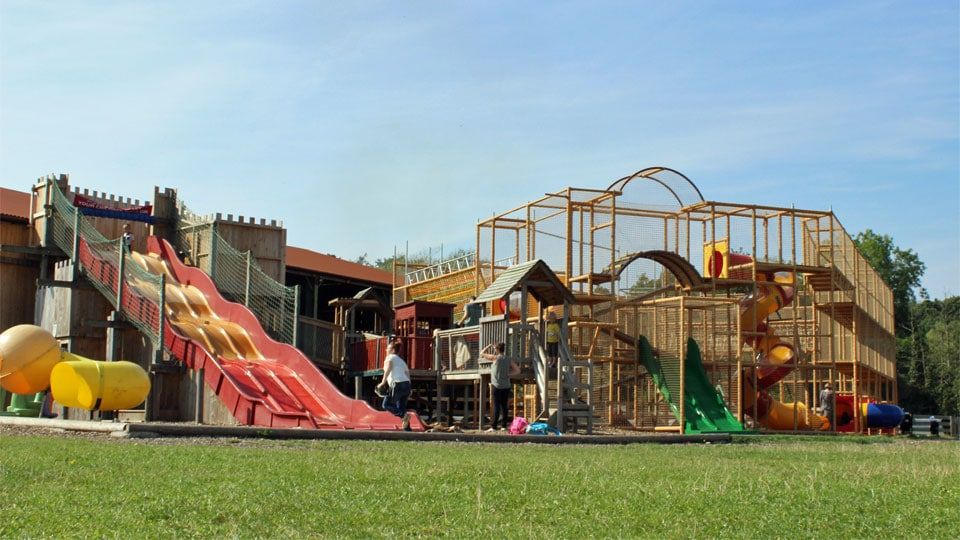 Outdoor-play-giant-slides-and-climbing-frame-image-1