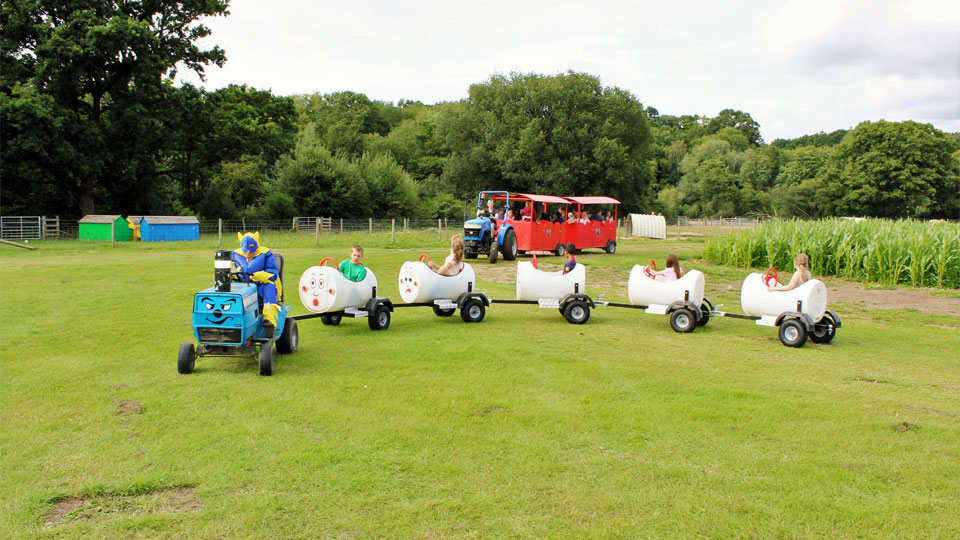 Outdoor-play-on-the-barrel-train-ride-image-1