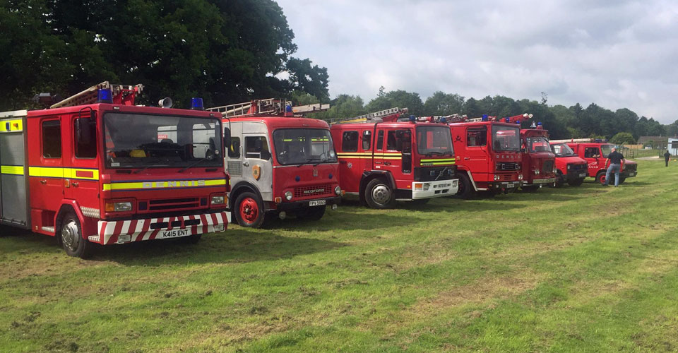 Row-of-fire-engines