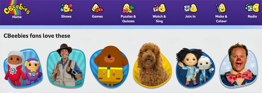 CBeebies website