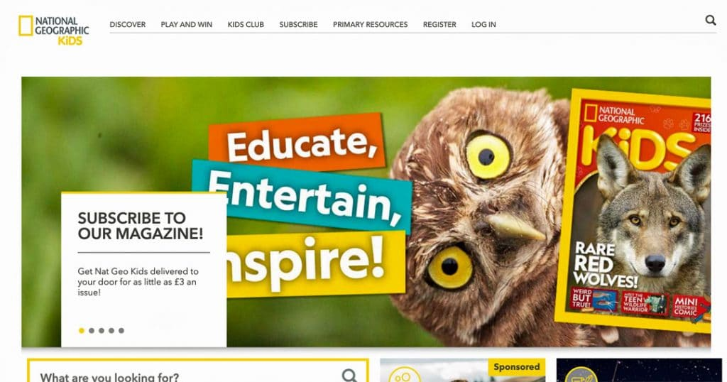 National-Geographic-Kids website