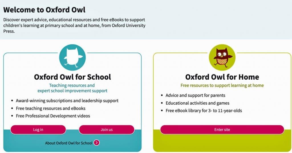 Oxford-Owl website