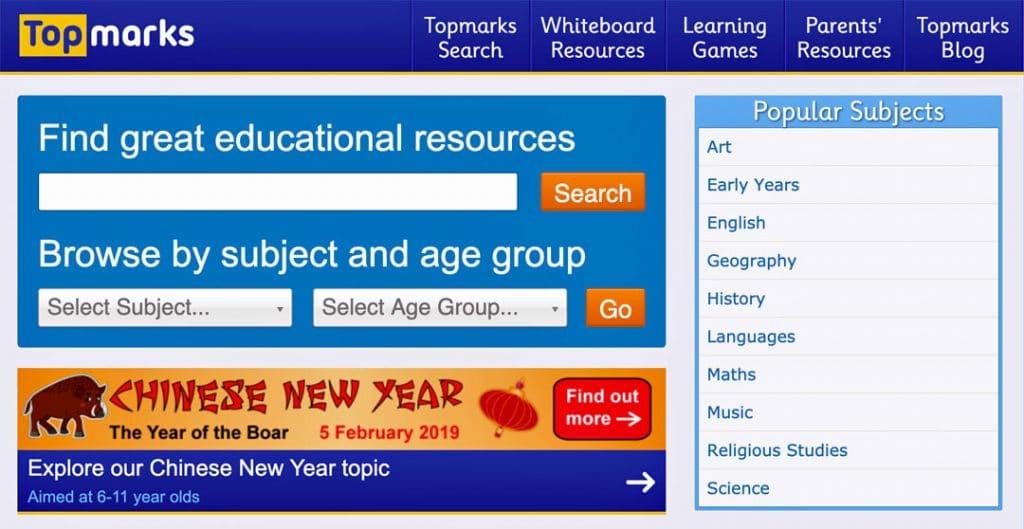 Top-Marks website